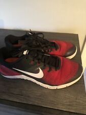 Nike Metcon 4 Mens Cross Training Shoes Size 10.5 RedBlack Very Good Condition