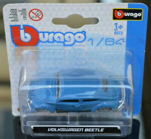 VW VOLKSWAGEN BEETLE1:64 (7 cm) Model Toy Car Diecast Miniature Blue