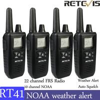 4XRetevis RT41 Walkie Talkies 22CH NOAA  Scan License-free 2way Radio long range