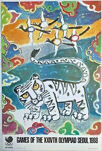 "1988 Seoul Korea, Olympic Poster ""MYSTIC STAR of the ORIENT"" by Kim Ki-Chang"