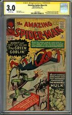Amazing Spider-Man #14 CGC 3.0 SS STAN LEE 1st app GREEN GOBLIN Ditko Cover
