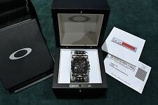 Authentic Oakley Minute Machine Watch Time Tank Black Face Highly Collectible