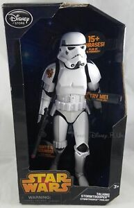 "Disney Store Star Wars Talking Stormtrooper 14.5"" Action Figure W/ Movie Phrases"