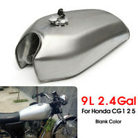 2.4 Gallon 9L Motorcycle Fuel Gas Tank Cap Switch Key For Honda CG125 Cafe Racer