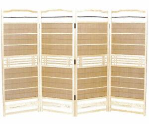 Sudare byobu partition White Akita Cedar with Japanese Moso bamboo