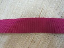 "50 YDS VINTAGE  5/8"" PETERSHAM  COTTON RAYON GROSGRAIN  RIBBON  WINE"