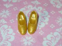 Disney Fashion Barbie Doll MATTEL PRINCESS AURORA BELLE GOLD SHOES Replacement