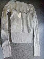 aeropostale women's XS solid ribbed turtleneck sweater Gray