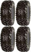 Full set of 4 Sedona Rip Saw (Front 26x9-12) & (Rear 26x11-12) ATV Tires (6ply)
