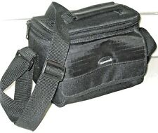 Black Canvas Vintage SAMSONITE Padded Camera Photographer Padded Shoulder Bag