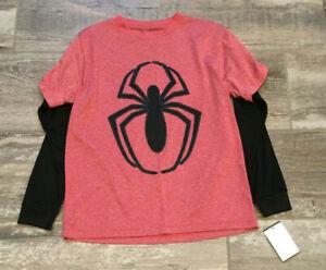 NWT Marvel Red Spider Spiderman Long Sleeve Athletic Shirt Youth Medium