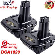 2Pcs DCA1820 For DEWALT 20V MAX Li-ion Battery Adapter Converter to 18Volt Tools