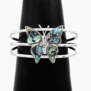 Artisan Hand Made Abalone Butterfly Bracelet from Taxco Mexico
