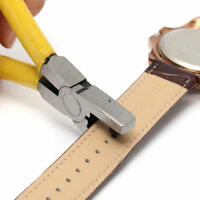 Watch Band Strap Belt Hole Puncher Plier Eyelet Leather Hand Repair Tools