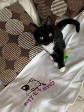 Personalised pet blanket, Cat/Dog Blanket. Pink, Cream, Blue * SEE DISCRIPTION *