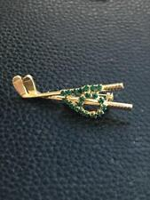 Vintage Rhinestone Golf Club Pin / Broach Costume Jewelry