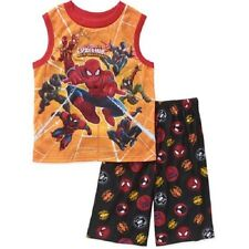 Boys Marvel Ultimate Spider-Man 2pc Kids Pajamas Set BNWT Size 4/5 Great Gift!!