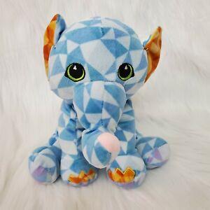 "11"" Fiesta Elephant Blue Orange Purple Geometric Plush Stuffed Toy Lovey  B226"