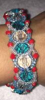 Ilde (bracelet) de Yemaya Ashaba con cuentas de cristal