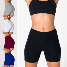Verano mujeres Cintura Alta Pantalones Cortos Mujeres Sexy Shorts básica de algodón pantalones cortos de motorista