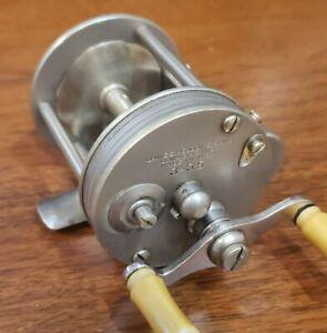Heddon 3-35 German silver casting reel - levelwind