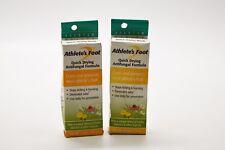Lot of 2 Quantum Athlete'S Foot Cure Quick Dry Anti fungal Formula - 0.75 oz. ea
