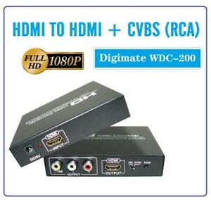 HQ HDMI to HDMI Converter AV CVBS RCA Composite Video to HDMI Converter