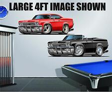 1965-66 Chevy Impala Caprice SS 396 Wall Poster Decal Man Cave Graphics Garage