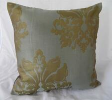 Palest Green & Metallic Gold Classic Cushion Cover 45cm
