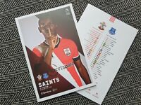 Southampton v Everton 2020/21 Premier League Programme 25/10/2020 READY TO POST!