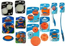 Chuckit! Dog Puppy Rubber Squeaky Ball Toys Ring Fetch Glow Balls Launcher