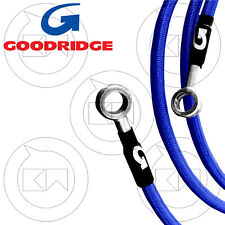 GOODRIDGE KIT TUBI FRENO IN TRECCIA ACCIAIO DIRETTI BLU SUZUKI GSX-R 600 2008