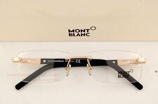 Brand New MONT BLANC Eyeglass Frames 398 028 Gold for Men