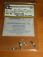 (5) ATC RF 3.3pF Capacitors Tol C 100B3R3CMS