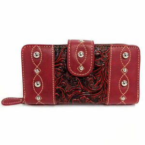 South Western Style All in One Wallet in Red