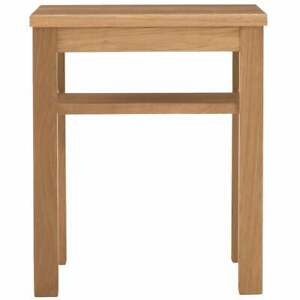 MUJI White Oak Side Table, Wooden Stool Bench14x14x17in