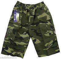 Garçons Enfants Camouflage armée militaire imprimé COMBAT POCHES MULTIPLES short
