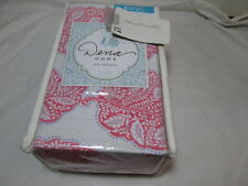 "New Dena Home King Bedskirt 78""x80""+15"" AMARA ~ Pink, Purple and white"