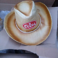 COORS BANQUET BEER STRAW COWBOY HAT OSFA - NEW!