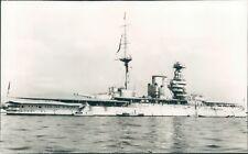 Postcard Royal Navy Battleship HMS Queen Elizabeth Unposted Real Photo