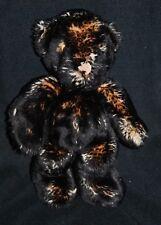 Peluche doudou ours brun marron noir chiné IKEA pattes beige 30 cm TTBE
