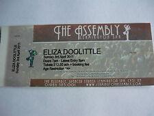 ELIZA DOOLITTLE - 2011 CONCERT TICKET (REF 100759)