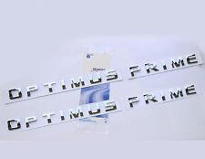 2x OEM Chrome OPTIMUS PRIME Nameplate Emblem Badge for Silverado Ford Truck WU