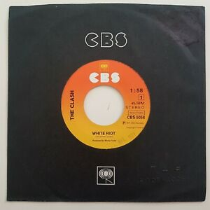 """PROMO 7"""" ♦ THE CLASH : WHITE RIOT ♦ same ref. but comes in CBS sleeve"""
