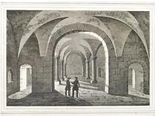 2 Orig.Lithos.Saxonia ca.1835 MEMLEBEN KIRCHE INNEN