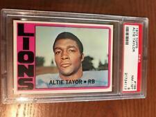 1972 Topps Football PSA 8  #199 Allie Taylor
