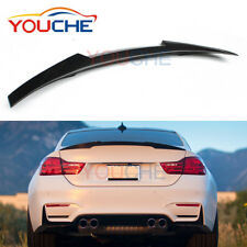 M4 Style Carbon Fiber Trunk Spoiler Wing Boot Lips for BMW 4 Series F82 M4 2014+