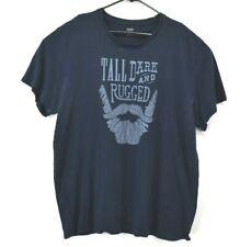 Old Navy Mens 2Xl Vintage Graphic Tall Dark & Rugged Beard Short Sleeve T-Shirt