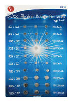 30 Assorted Alkaline Watch Battery Button Cell Coin Batteries Calculator Camera