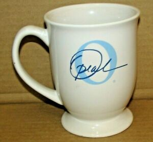 "The Oprah Winfrey Show Promotional Coffee Tea Mug ""O"" Signature Fluted Footed"